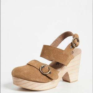 Free People Suede Park Circle Clogs Size 39